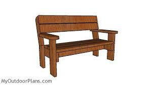 2x6 garden bench plans myoutdoorplans