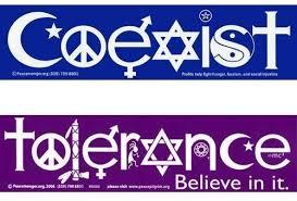 Amazon Com Coexist And Tolerance Bumper Stickers Automotive