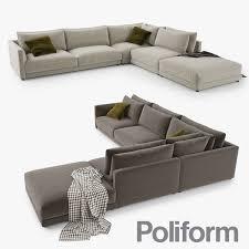 poliform bristol sofa 3d modell