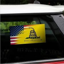 Dont Tread On Me Gadsden Flag Motorcycle Auto Vinyl Yellow Snake Decal Sticker Car Sticker Buy At A Low Prices On Joom E Commerce Platform