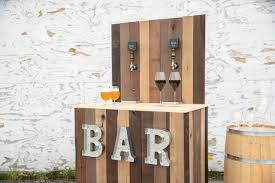 how to build a diy wedding bar