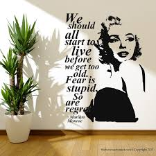 Marilyn Monroe Quote Regret Wall Decal Stickers Decor Easy Removable Sticker Free Shipping Wall Decals Stickers Decal Stickersticker Decoration Aliexpress