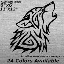 Wolf Black And White Stars Art Rear Window Decal Sticker Pick Up Truck Suv Car Ushirika Coop