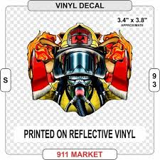 Firefighter In Mask Flames On Reflective Decal Car Truck Fire Sticker S 93 For Sale Online Ebay