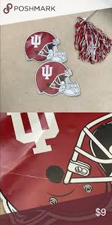 Two Large Indiana Hoosiers Football Car Decals Football Decal Indiana Hoosiers Football Helmets