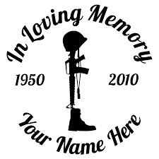 In Loving Memory Fallen Soldier Sticker