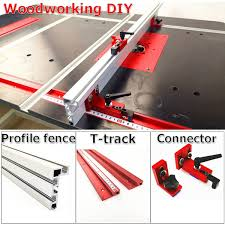 Woodworking Diy Tool T Track Track Stopper Clamping Block Connector Profile Fence Feather Board For Router Table Saw Wish
