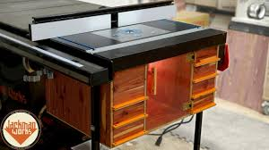 Ultimate Router Table Storage Cabinet Table Saw Extension Wing Youtube