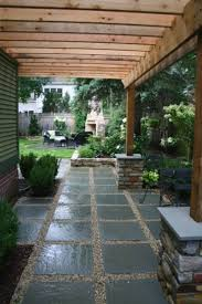 stone or large pavers with gravel