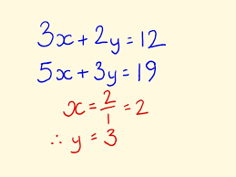 simultaneous equations algebra math