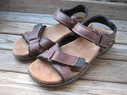 gus brown leather sandal shoe size