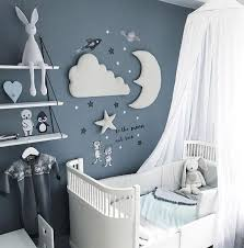 3pcs Nordic Style Moon Cloud Star Kids Room Decoration 3d Wall Decor Delite Shopping