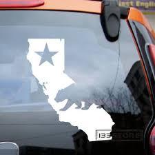 California Map Flag Star Bear Cali Car Vinyl Decal Sticker Ebay