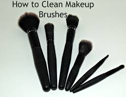 how to clean makeup brushes with