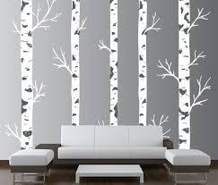 Large Wall Vinyl Tree Forest Decal Birch Woodland Nursery Sticker 1308 Innovativestencils