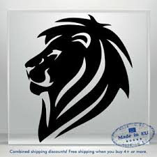 Lion King Head Vinyl Decal Sticker Funny Auto Car Bumper Window Tablet Wall Jdm Ebay