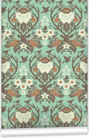 free antler damask wallpaper