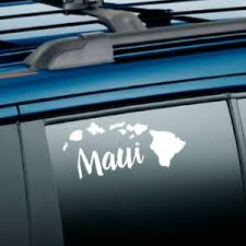 Maui Hawaii Aloha State Island Hawaiian Vinyl Transfer Sticker Decal Car Window Ebay