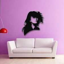 Wall Vinyl Decal Beautiful Oriental Asian Eyes Beauty Hair Salon Bedroom Z3753