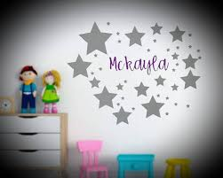 Custom Wall Decal Custom Name Decal Star Wall Decal Star Etsy