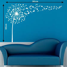 Music Notes Pattern Wall Decal Music Dandelion Vinyl Stickers Home Art Design For Sale Online