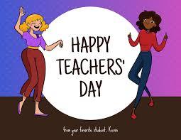 Gradient Happy Teachers' Day Card Template