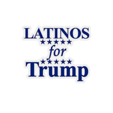 Latinos For Trump Kiss Cut Stickers 1776