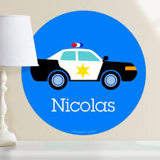 Heroes Police Car Personalized Wall Dotz Wall Decal Art Appeel