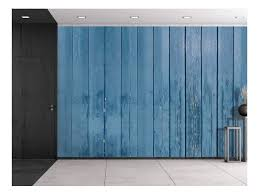 Buy Wall26 Blue Wooden Fence Panels Wall Mural Removable Sticker Home Decor 100x144 Inches Online At Low Prices In India Amazon In
