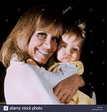 Hildegard Knef with her daughter, Christina in March 1969 in Beverly Stock  Photo - Alamy