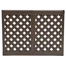 2 Panel Outdoor Interlocking Outdoor Fence Brown