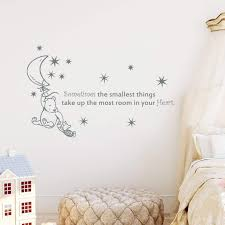 Amazon Com Winnie The Pooh Quote Wall Decal Quotes Sometimes The Smallest Things Take Up Nursery Decor Baby Room Wall Art Vinyl Sticker Quotes Decals Kids Room Kp11 Handmade