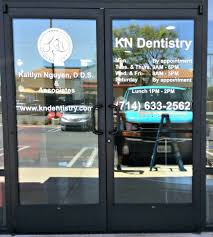 Custom Window Graphics For Dentist Office White Vinyl Decals Dentist Office Design Commercial Window Tinting Dental Office Design