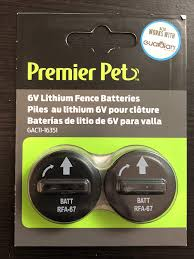 Amazon Com Premier Pet Products 6v Rfa 67 Replacement Batteries For Fence Collar Pet Supplies