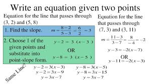 ppt 2 4 more linear equations point