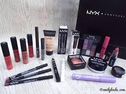 nyx cosmetics haul emilyloula