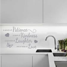 Kitchen Wall Quote A Pinch Of Patience Wall Art Sticker Modern Decal Pvc A6 003 Wall Stickers Aliexpress