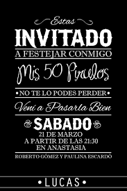 Resultado De Imagen Para 50 Cumpleanos Hombre Invitacion