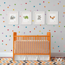 Small Rainbow Dots Shapes Vinyl Wall Decal Diy Colorful Wall Mural Wallternatives