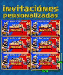 Clash Royale Kid Imprimibles Invitacion Corona Banderines