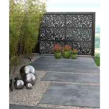 Modinex 6 Ft X 3 Ft Charcoal Gray Modinex Decorative Composite Fence Panel Featured In Panama Design Usamod5c The Home Depot In 2020 Garden Fence Panels Fence Panels Decorative Fence Panels