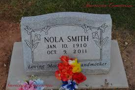 Nola Smith | Lakeview Cemetery in Wichita Falls, TX
