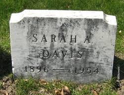 Sarah Adeline Stewart Davis (1896-1954) - Find A Grave Memorial