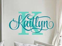 Name Wall Decals Teen Girl Room Decor Baby Girl Nursery Name Etsy
