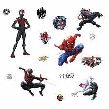 New Marvel Spider Man Miles Morales Peel And Stick 15 Wall Decals Kids Room Spiderman Stickers Decor Walmart Com Walmart Com