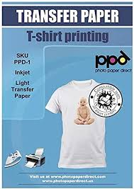 Amazon Com Ppd Inkjet Premium Iron On White And Light Color T Shirt Transfers Paper Ltr 8 5x11 Pack Of 10 Sheets Ppd001 10 Office Products
