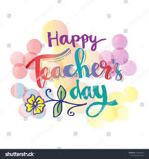 Happy Teachers Day Card Stock Vector (Royalty Free) 722390545