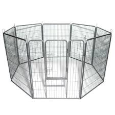 40 Dog Pet Playpen Heavy Duty Metal Exercise Fence Hammigrid 8 Panel Silver Houses Kennels Pens Aliexpress