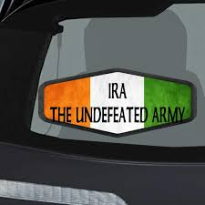 Amazon Com Makoroni Ira The Undefeated Army Irish Ireland Flag Car Laptop Wall Sticker Decal 4 By6 Small Or 6 By9 Large Automotive