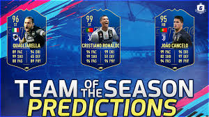 TOTS Serie A Predictions by GISALEGEND   FUT 20
